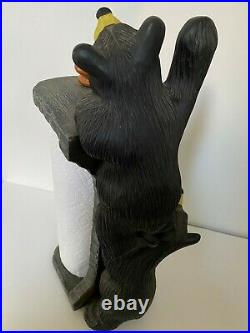Big Sky Carvers Bearfoots Curious Cubs Paper Towel Holder Jeff Fleming