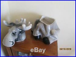 Big Sky Carvers Bearfoots Grey Moose Cookie Jar by Phyllis Driscoll