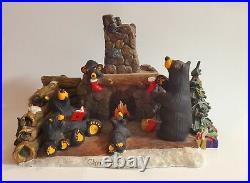 Big Sky Carvers Bearfoots Jeff Fleming Christmas Eve Black Bear Rare 30150711