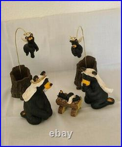 Big Sky Carvers Bearfoots Nativity Sets I, II and III By Jeff Fleming