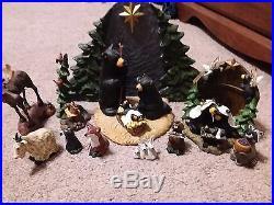 Big Sky Carvers Bearfoots Nativity complete! PLUS EXTRA