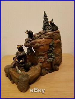 Big Sky Carvers Bears Mountain Fountain Store Display Rare Read Description