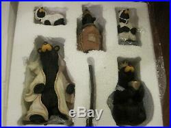 Big Sky Carvers Beartivity I & II Nativity Bears Excellent Condition in Boxes