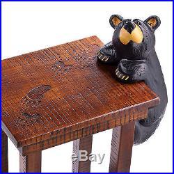 Big Sky Carvers Benjamin SideTable Bearfoots Bear Grand Black Bear End Table