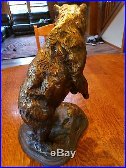 Big Sky Carvers Brass Bear Statue Whose Creek Handcrafted by Cabelas