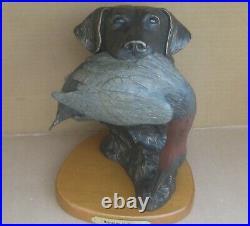 Big Sky Carvers Bringing It Home Sculpture Hunter Retriever Dog Duck