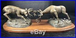 Big Sky Carvers Bronze Sculpture DOMINANCE 2001 Bradford Williams