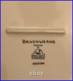 Big Sky Carvers Brushwerks Bear Large Serving PLATTER 16 RARE