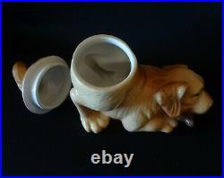 Big Sky Carvers Canine Collection Golden Retriever Puppy Dog Biscuit Cookie Jar