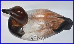 Big Sky Carvers Canvasback Duck Decoy Hand Carved Wood Signed Kristi Jones