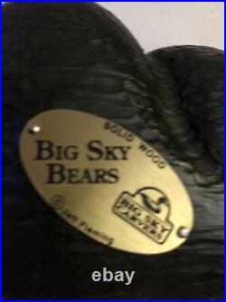 Big Sky Carvers Carved Wood Lounging Black Bearfoots Bear Jeff Fleming 10 1/2