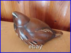 Big Sky Carvers Courtney Pickering Wood Carved Quail Bird Figurine