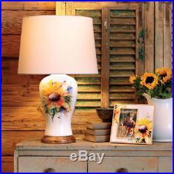 Big Sky Carvers Dean Crouser Redhead Cardinal Bird Porcelain Table Lamp & Shade