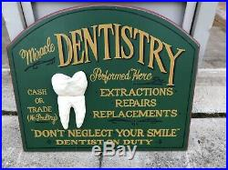 Big Sky Carvers Dentist Dental Wood Signed By Artist 3D Tooth Vintage Replica