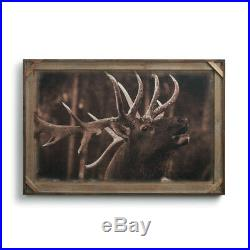 Big Sky Carvers Denver Bryan Bull Elk Barnwood Gallery Print, 36 X 24