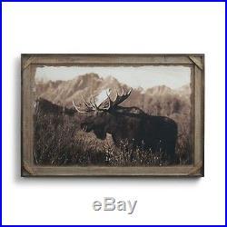 Big Sky Carvers Denver Bryan Bull Moose Barnwood Gallery Print, 36 X 24