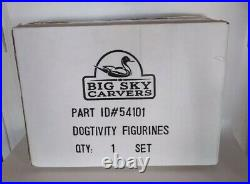 Big Sky Carvers Dogtivity Figurines Set with Box RARE