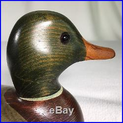Big Sky Carvers Duck Decoy Craig Fellows 11.5 Handmade Signed Mallord