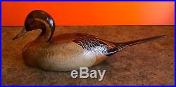 Big Sky Carvers Duck Decoy Hand Carved Wood Signed Craig Fellows 1982 Large
