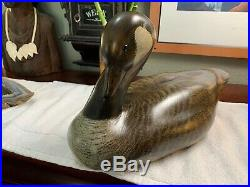 Big Sky Carvers Duck Decoy Signed By SS Huntsman Carved Wood Duck Hand Painted