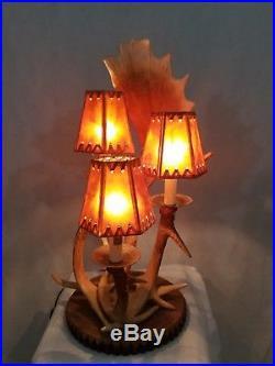 Big Sky Carvers Faux Antler Lamp Light Rustic Lodge Cabin
