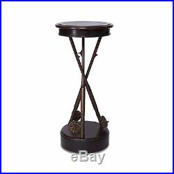 Big Sky Carvers Fly Rod Anglers Accent Table Fishermans Side Table