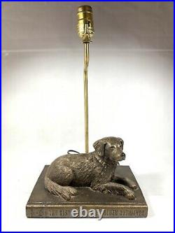 Big Sky Carvers Golden Retriever Lamp Sculpture Vintage No Shade Made In Montana