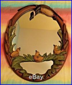 Big Sky Carvers Goose Gosling Mirror Vintage Phyllis Freund 1997 Montana USA 28