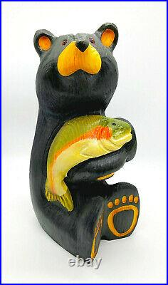 Big Sky Carvers Hand-Carved Black Bear with Trout (Retired) Jeff Fleming