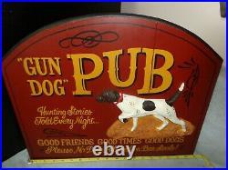 Big Sky Carvers Hand Painted Artist Signed Gun Dog Pub Hunting Bar Tavern Sign