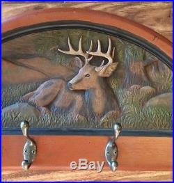 Big Sky Carvers Handcrafted In Montana Deer Coat Rack, Wall Mount Herrick