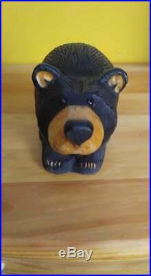 Big Sky Carvers Jeff Fleming Bearfoots Fine Fur Pine Carved Black Bear Statue