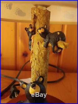 Big Sky Carvers Jeff Fleming Bearfoots Honey Tree Black Bear Lamp & Shade