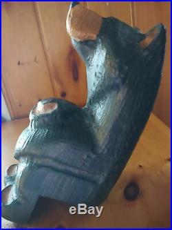 Big Sky Carvers Jeff Fleming Bearfoots Wood Black Bear Shelf Sitter Sculpture