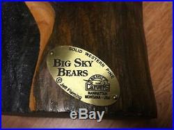 Big Sky Carvers Jeff Fleming Black Bear Solid Wood Carved Sculpture 15 HTF