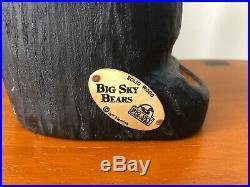 Big Sky Carvers Jeff Fleming Black Bear Wood Carving Petey Bear Sculpture