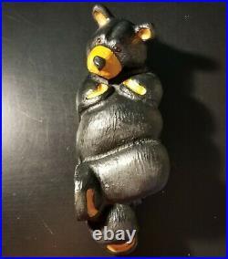 Big Sky Carvers Jeff Fleming Black Bear Wood Carving Sculpture Chilln Bear 11