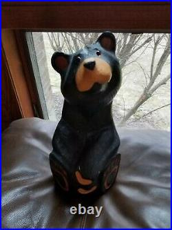Big Sky Carvers Jeff Fleming Black Bear Wood Carving Sculpture Solid Pine Jeffre