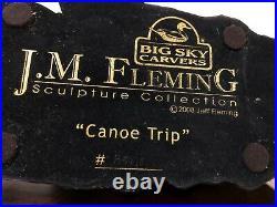 Big Sky Carvers Jeff Fleming Canoe Trip Sculpture 23 Bearfoots 2008 # B5418