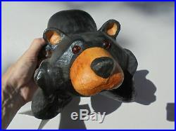 Big Sky Carvers Jeff Fleming Carved Wood Bailey Bear on Elbows Figure 13 w Tag