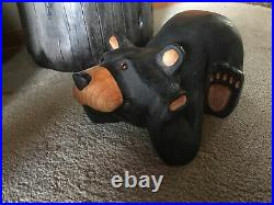Big Sky Carvers Jeff Fleming Carved Wood Thinking Bear 13 Adorable Rare XLNT