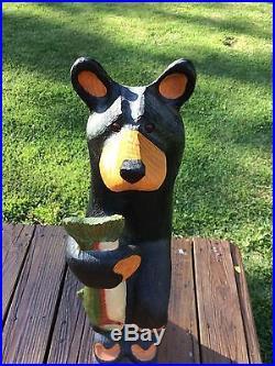 Big Sky Carvers Jeff Fleming Hand-Carved Black Bear Sculpture-33 Tall