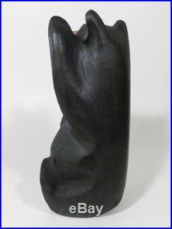 Big Sky Carvers Jeff Fleming Hand Carved Black Bear Waving Sculpture