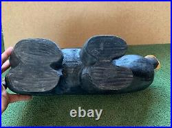 Big Sky Carvers Jeff Fleming Hand Carved Solid Wood 18 Black Bear Sculpture