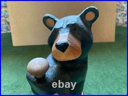 Big Sky Carvers Jeff Fleming Hand Carved Solid Wood 21 Black Bear Sculpture