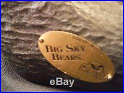 Big Sky Carvers Jeff Fleming Solid Wood Bear Bailey+brass Tag+cert. Tag
