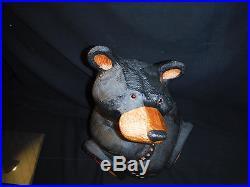 Big Sky Carvers Jeff Fleming Solid Wood Bear Bigfoots Cubbie Huge 21.5
