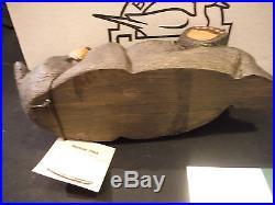 Big Sky Carvers Jeff Fleming Solid Wood Bear Logan + Orig. Box+cert. Tag
