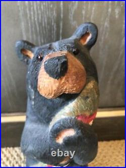 Big Sky Carvers Jeff Fleming Wood Trout Fish Bear Sculpture 12 Vintage