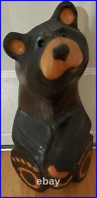 Big Sky Carvers Jeffrey Bear Wood Carving Black Bear Sculpture Jeff Fleming Pine